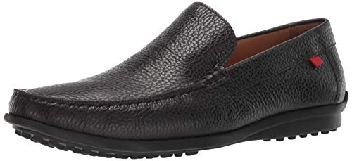 Marc Joseph New York Mens Grainy Leather Fort Hamilton Venetian Loafer, Black, 13 M US