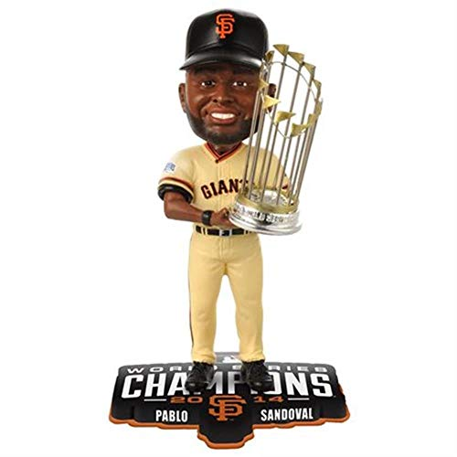 (MLB San Francisco Giants Sandoval P. #48 2014 World Series Champions Bobble Figurine, Black)