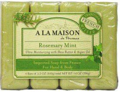 Rosemary Mint Soap Bar (A La Maison - Bar Soap,Rsmry Mint,Value, 1 x 4 CT)