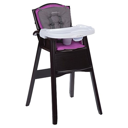 Eddie Bauer Classic Comfort 3-in-1 Wood High Chair Radiant Orchid