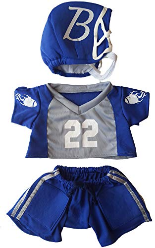 Football Uniform Outfit Teddy Bear Clothes Fit 14