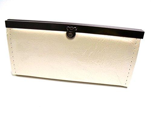 Bolso de mano para mujer con diseño de efecto lacado de diseño en varios colores 6224 blanco