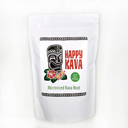 Happy Kava Brand Premium Micronized Kava Root Powder   Concentrated Kava Root Powder Supplement For Sleep Support, Relaxation, Stress and Anxiety Relief   Strong Natural Kava Kava Root Drink Mix