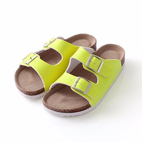 verde el hogar Lovers zapatos piscina suelo dormitorio de playa sonido YMFIE antideslizantes Sandalias transpirables para de verano zapatillas para el sin wXzqRzxp