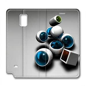 Samsung Note 4 leather Case,Samsung Note 4 Cases ,Balls and squares Custom Samsung Note 4 High-grade leather Cases
