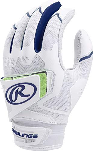 Rawlings FPWPBG-N-90 Workhorse Softball Batting Gloves, Navy