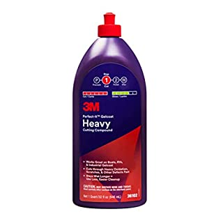 3M 36102 Perfect-It Gelcoat Heavy Cutting Compound 1 Quart,White