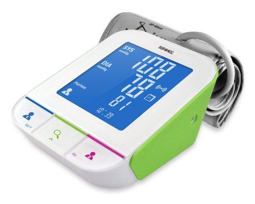 Duronic BPM490 Intelligenter, Vollautomatischer Oberarm Blutdruckmessgerät mit Bluetooth-Verbindung für 1 oder 2 Benutzer