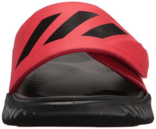 adidas Männer Alphabounce Slide Sport Sandale Scharlachrot, Kernschwarz, Kernschwarz