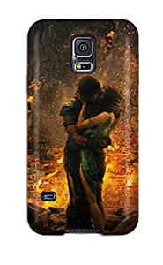 Galaxy S5 OQAkSjF7528QIVxe Hollywood Movie Pompeii Love Couple Kissing Tpu Silicone Gel Case Cover. Fits Galaxy S5