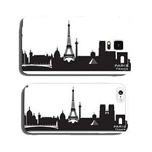 Paris France city skyline vector silhouette cell phone cover case iPhone6 Plus