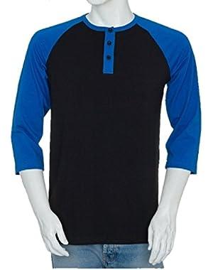 Raglan Men's Henley Baseball Shirts - Shrink Resistant