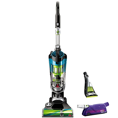 BISSELL 16501 Pet Hair Eraser Deluxe Upright Bagless Vacuum Cleaner, Blue
