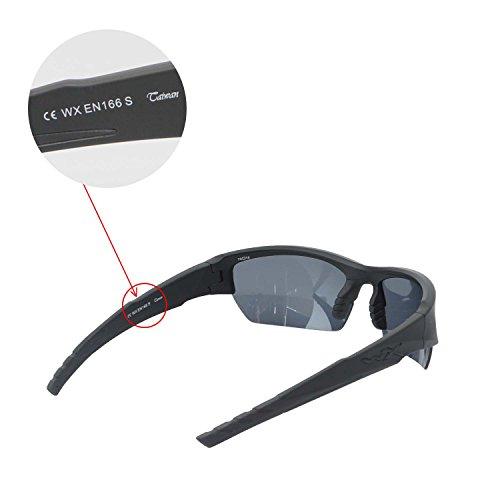 98c3dfa01c Walleva Polarized Titanium + Black Replacement Lenses For Wiley X Valor  Sunglasses