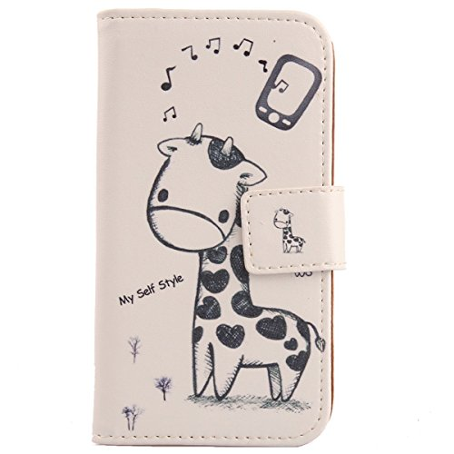 Lankashi Pattern Design Leather Cover Skin Protection Case for Acer Liquid Z500 (Giraffe)