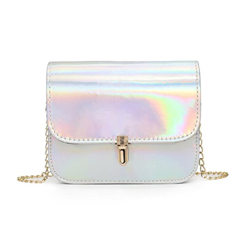 New Sunshinehomely Crossbody Messenger Bags Girls Silver Women Bag Leather Laser Fashion Shoulder ZwSAdwx