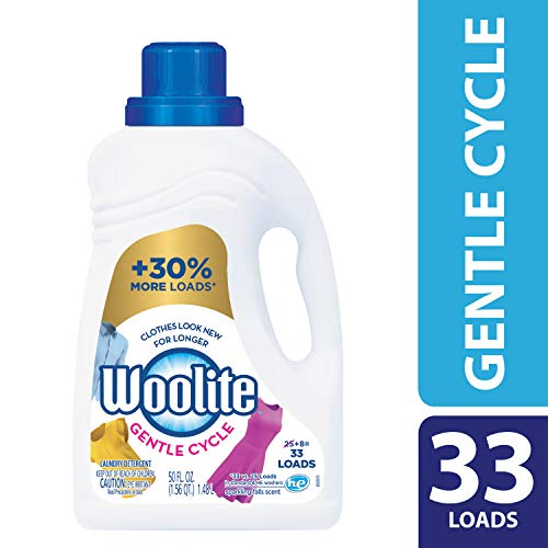 Woolite GENTLE CYCLE Liquid Laundry Detergent, 50 Fl Oz (25 loads) With Color Renew, HE & Regular Washers (Packaging May Vary)