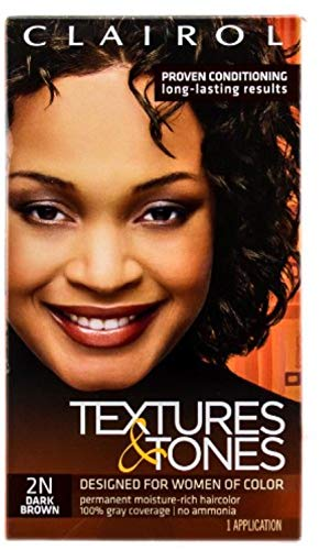 Clairol Textures & Tones 2N Dark Brown, 1 ea (Pack of 4)