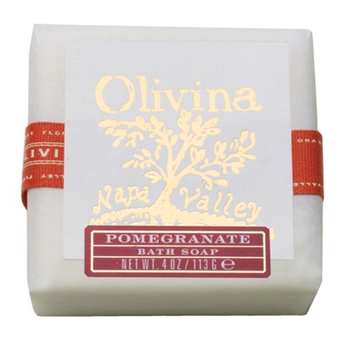 Olivina Natural Bath Bar Soap, Pomegranate, 4 Ounce