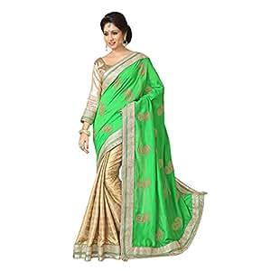 Shilp-Kala Net Embroidered Beige Colored Saree SKTFZO10105