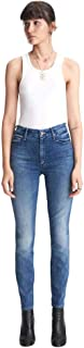product image for MOTHER High Waisted Looker Ankle Women's Designer Denim Jeans - DSS wash - Made in The USA