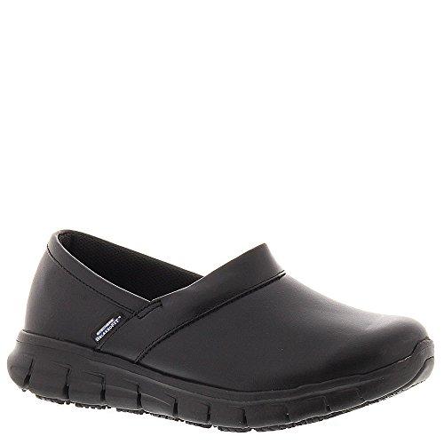 Skechers for Work Women's Relaxed Fit Slip Resistant Work Shoe,Black,6 M US 76542