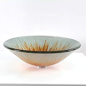 BL- Bathroom glass wash basin/Bowl/sunflower wash basin (45013512mm) , single basin 30%OFF