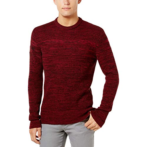 (American Rag Mens Knit Marled Crewneck Sweater Red XL)