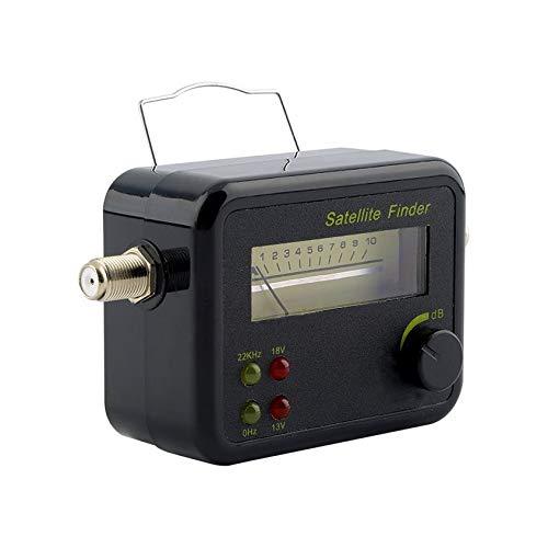 Florenceenid Plastic Black Mini Digital LCD Display Satellite Signal Finder Meter Tester ()