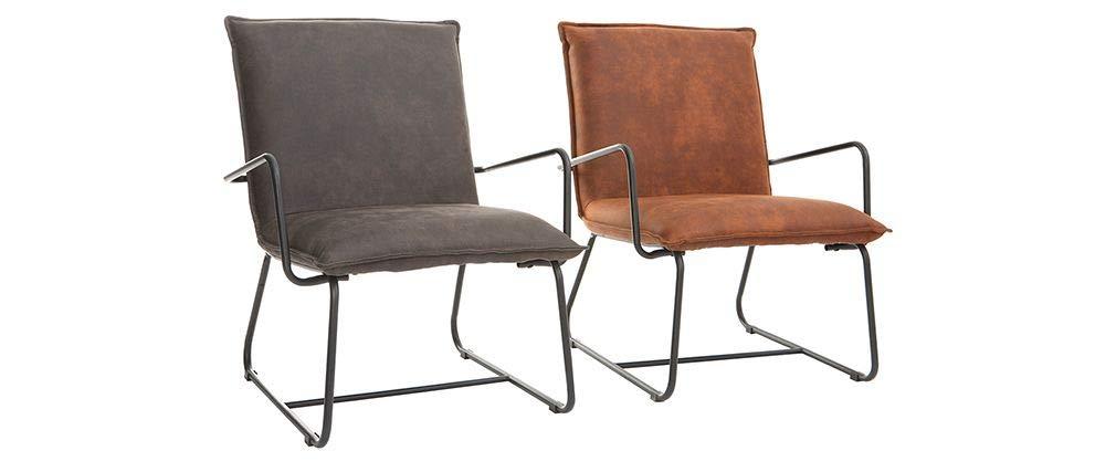 Miliboo sillones Mercy fauteuil PU: Amazon.es: Hogar