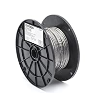 Stainless Steel 316 Wire Rope on Reel, 7x7 Strand Core, 1/8