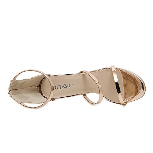 CCBubble Gold 1 tacón diseño mujer 2018 Sandalias para Dorado de rrwqTUaP