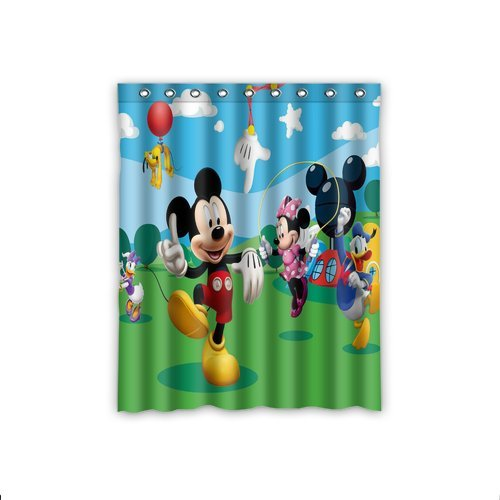 ScottShop Creative Mickey Mouse Club House Custom Window Curtains/drape/panels/treatment Comfort Polyester Fabric Bedroom Decor 52