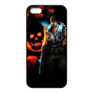 gears of war skull iPhone 4 4s Cell Phone Case Black JNC28658