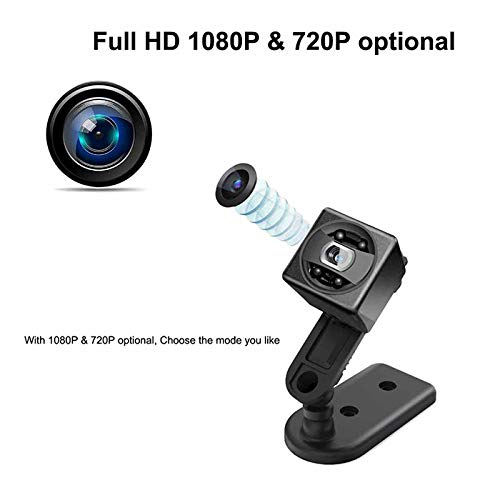 Hidden Spy Camera-Full HD 1080P Portable mini Camera Nanny Cam-Smallest Magnetic Camera - security camera with Night Vision/Motion Detection for Home Car Office,Indoor/Outdoor-No WIFI Function (Black) by BLAIKEPCAM