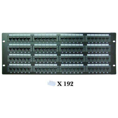 CLASSYTEK Rackmount 96 Port Cat6 Patch Panel, Horizontal, 110 Type, 568A & 568B Compatible, 4U