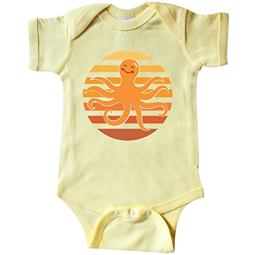 inktastic Octopus Ocean Sunset Infant Creeper Newborn Banana Yellow