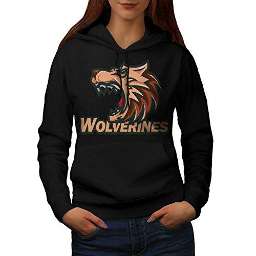 Wolverine Sport Team Basketball Women S Hoodie | Wellcoda (Evil Bunny Costume)