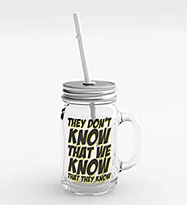 Loud Universe Clear Glass They Don't Know That Party Favors Mason Jar