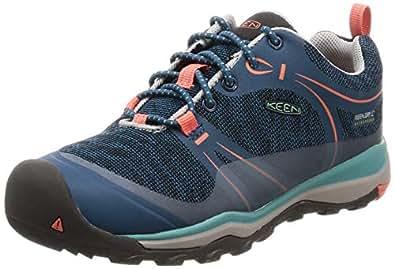 KEEN Unisex Terradora Low WP Hiking Shoe, Aqua SEA/Coral, 1 M US Big Kid