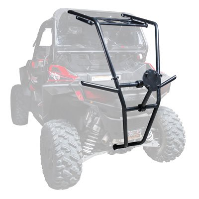 Tusk UTV Rear Bumper, Cargo Rack, and Spare Tire Carrier - Fits: Polaris RANGER RZR 900 TRAIL - Tire Roof Rack