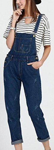 GAGA Women Jeans Bib Overall Shorts Jumpsuit Casual Wear Romper