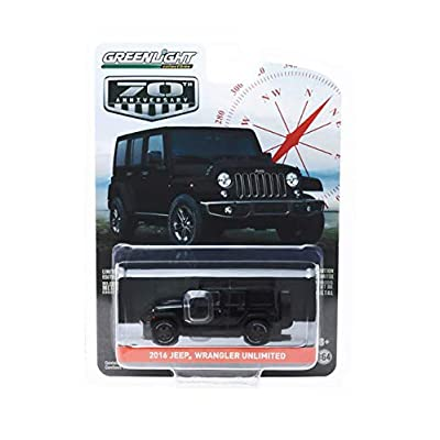 New DIECAST Toys CAR Greenlight 1:64 Anniversary Series 9 - Jeep Wrangler Unlimited 2016 75TH Anniversary Edition (1944-2020) (Black) 28000-F: Toys & Games