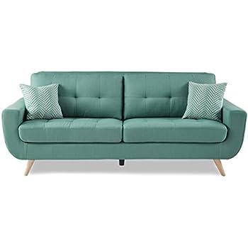 Homelegance 8327TL-3 Tufted Back Sofa, Teal