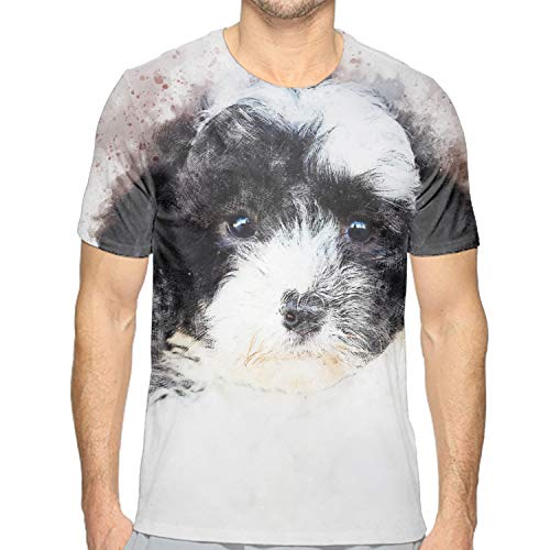 eeve Dog Stare Splash Watercolour Print Tunic T-Shirt Tops ()