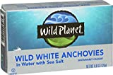 Wild Planet Wild Anchovies in Water with Sea Salt,  4.4 Ounce (Pack of 12)