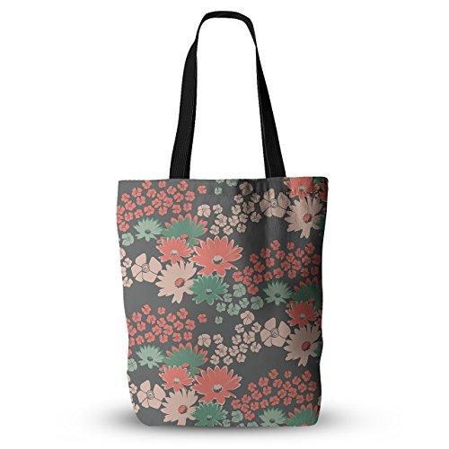 KESS InHouse Zara Martina Mansen'Natures Bouquet' - Bolso bandolera de coral, color verde, Multicolor, 18' x 18', 1