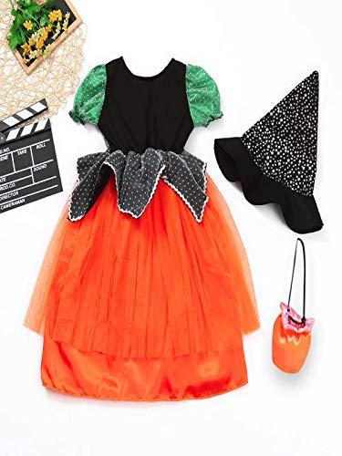 Ropa de Halloween Bebé, ❤ Modaworld Niño pequeño Niños Niñas Ropa de Halloween Vestido Vestidos de Fiesta + Sombrero + Trajes de Bolso 3 Años - 10 Años: ...