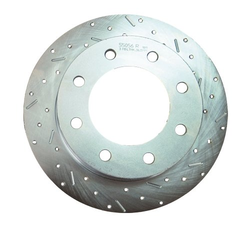 SSBC 23155AA3R Drilled Slotted Plated Front Passenger Side Rotor for 2002-05 Hummer H2 (Rotors Turbo Slotted Ssbc)