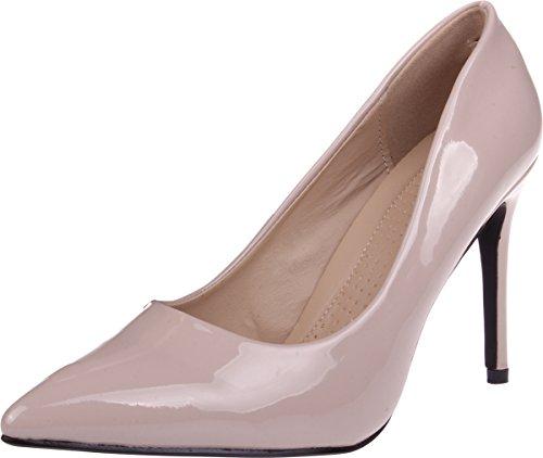 Red Circle Women's 4 Inch Classic Siletto Pump Heel Formal Fashion Dress Shoe Nude 12
